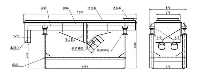 碳钢直线振动筛