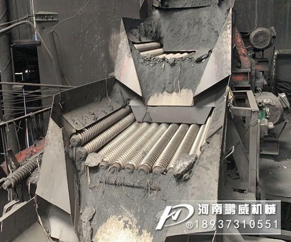 煤块滚轴筛分机