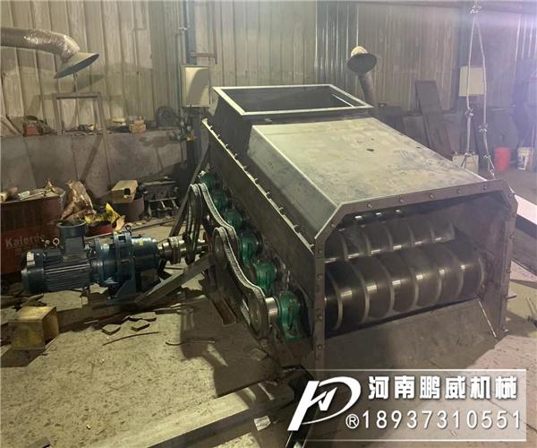 2米宽煤矿滚轴筛试机视频